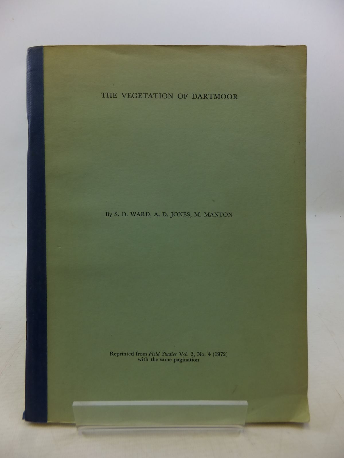 Photo of THE VEGETATION OF DARTMOOR written by Ward, S.D.<br />Jones, A.D.<br />Manton, M. published by Headley Brothers (STOCK CODE: 1809077)  for sale by Stella & Rose's Books