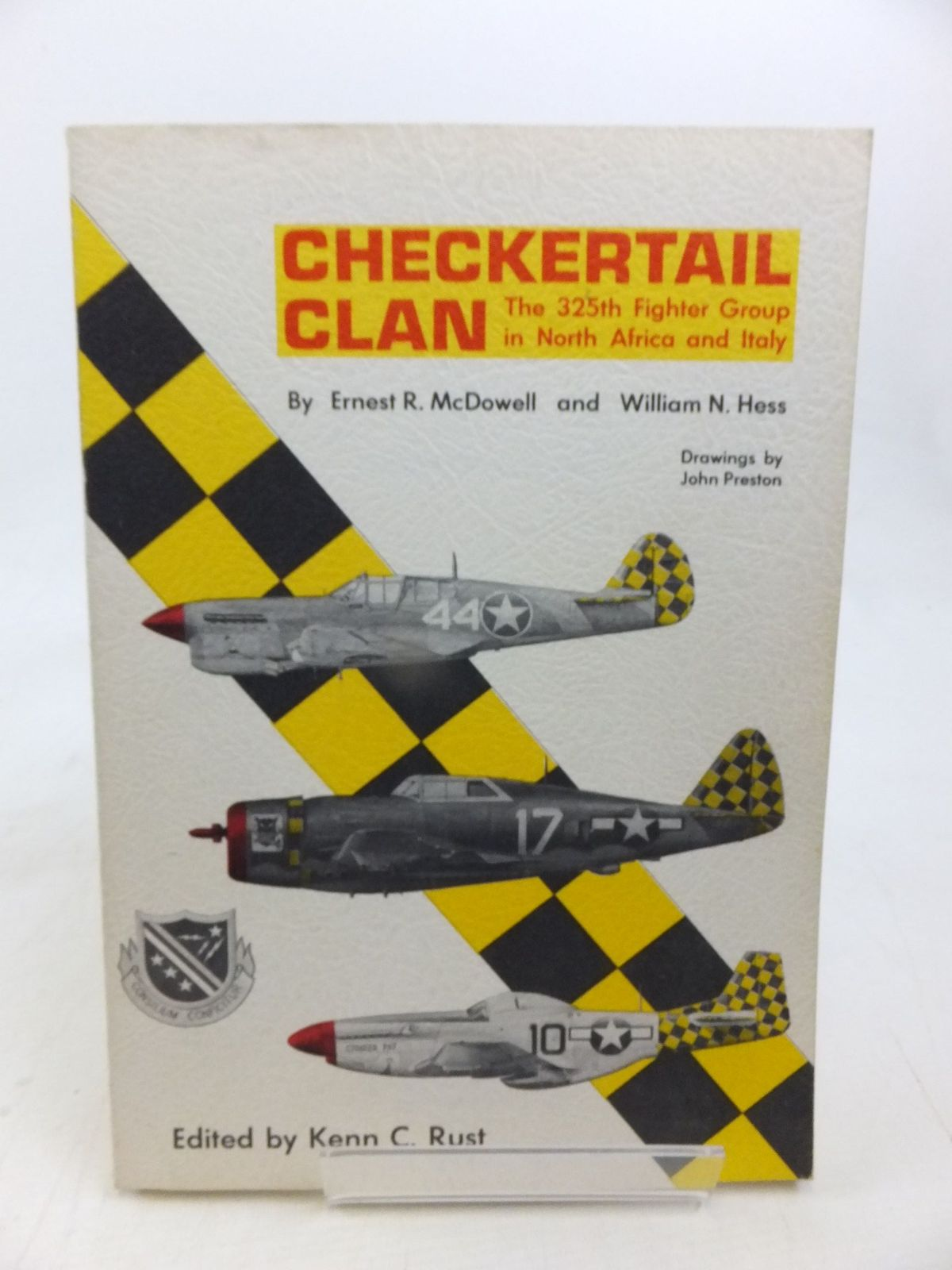 Photo of CHECKERTAIL CLAN THE 325TH FIGHTER GROUP IN NORTH AFRICA AND ITALY written by Mcdowell, Ernest R.<br />Hess, William N. illustrated by Preston, John published by Aero Publishers (STOCK CODE: 1810758)  for sale by Stella & Rose's Books