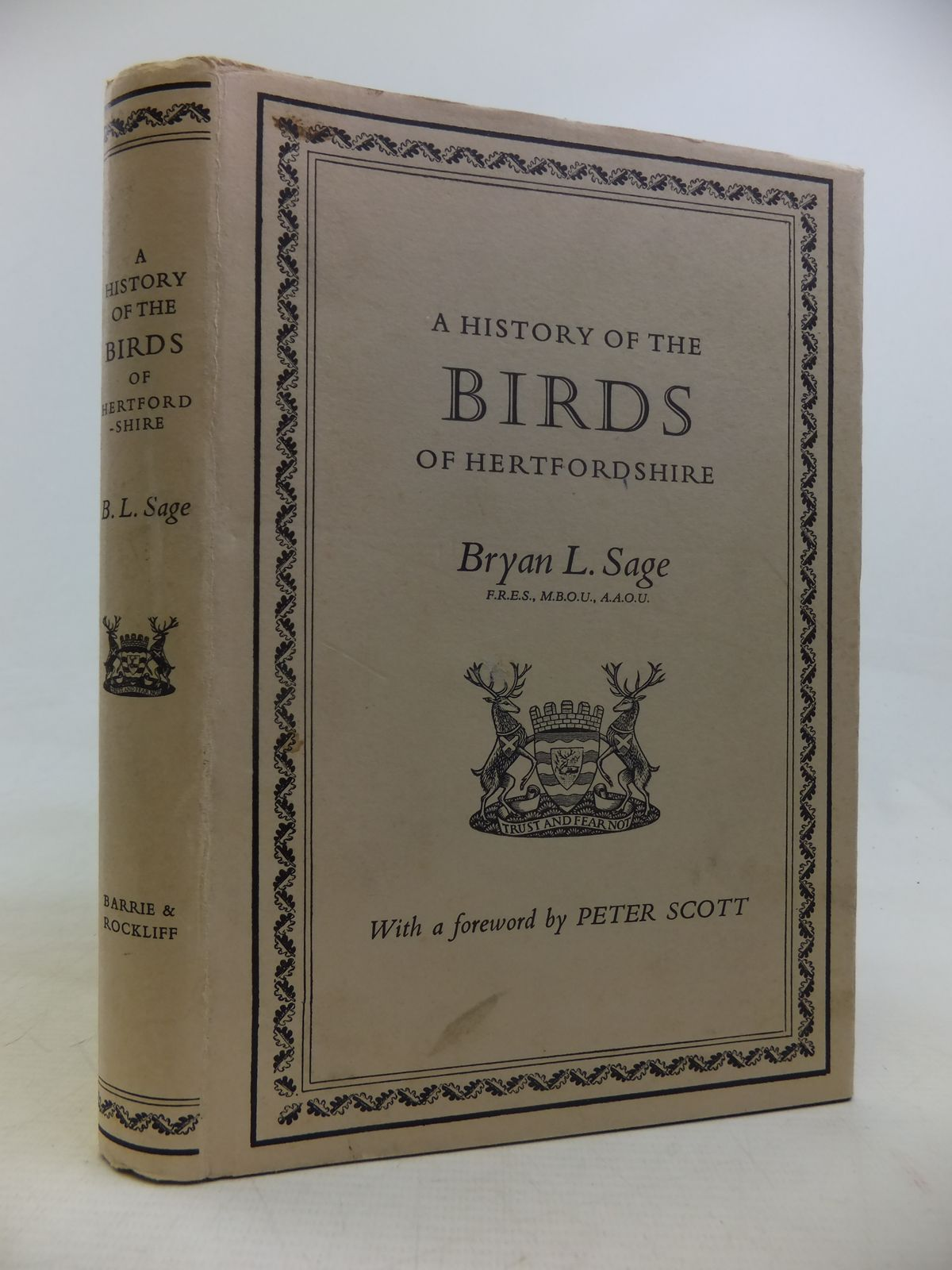 Photo of A HISTORY OF THE BIRDS OF HERTFORDSHIRE written by Sage, Bryan L. published by Barrie & Rockliff (STOCK CODE: 1810930)  for sale by Stella & Rose's Books