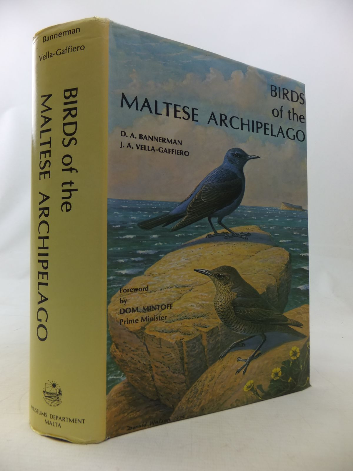 Photo of BIRDS OF THE MALTESE ARCHIPELAGO written by Bannerman, D.A.<br />Vella-Gaffiero, Joseph A. illustrated by Kelly, Chloe E. Talbot published by Museums Department Valletta (STOCK CODE: 1811092)  for sale by Stella & Rose's Books
