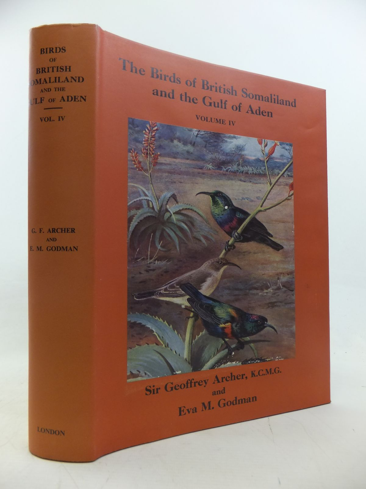 Photo of THE BIRDS OF BRITISH SOMALILAND AND THE GULF OF ADEN VOLUME IV written by Archer, Geoffrey<br />Godman, Eva M. illustrated by Thorburn, Archibald published by Oliver & Boyd (STOCK CODE: 1811160)  for sale by Stella & Rose's Books