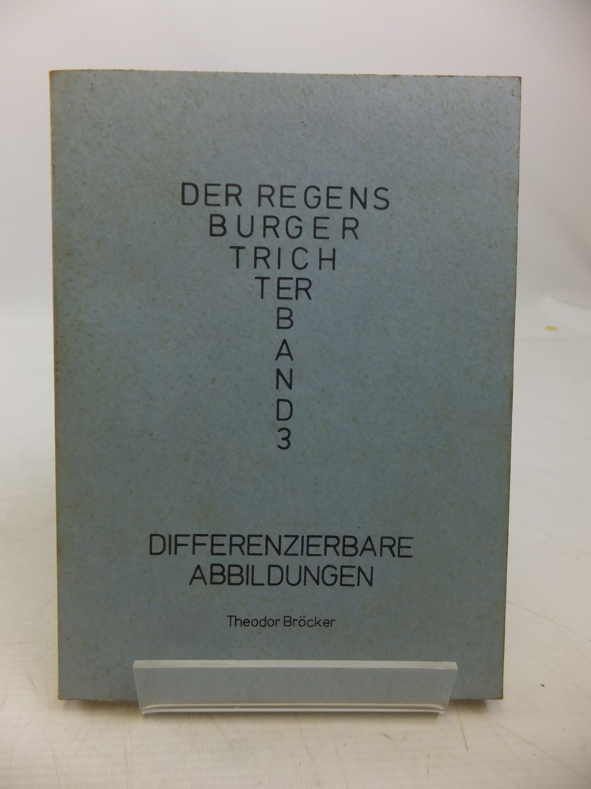 Photo of DIFFERENZIERBARE ABBILDUNGEN written by Brocker, Theodor published by Universitat Regensburg (STOCK CODE: 1811323)  for sale by Stella & Rose's Books