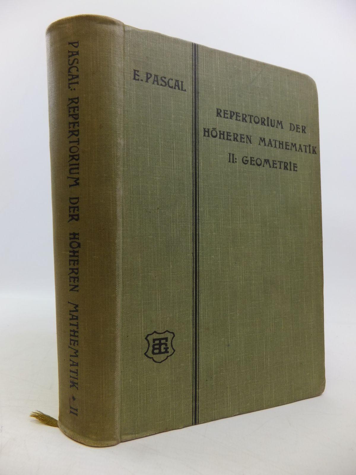 Photo of REPERTORIUM DER HOHEREN MATHEMATIK written by Schepp, A. published by Druck Und Verlag Von B.G. Teubner (STOCK CODE: 1811397)  for sale by Stella & Rose's Books
