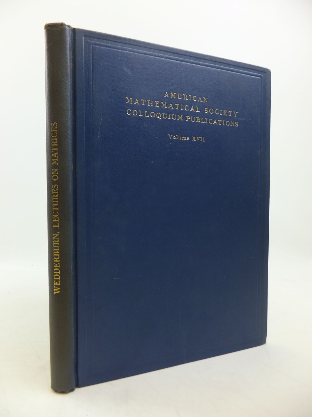 Photo of LECTURES ON MATRICES written by Wedderburn, J.H.M. published by American Mathematical Society (STOCK CODE: 1811430)  for sale by Stella & Rose's Books