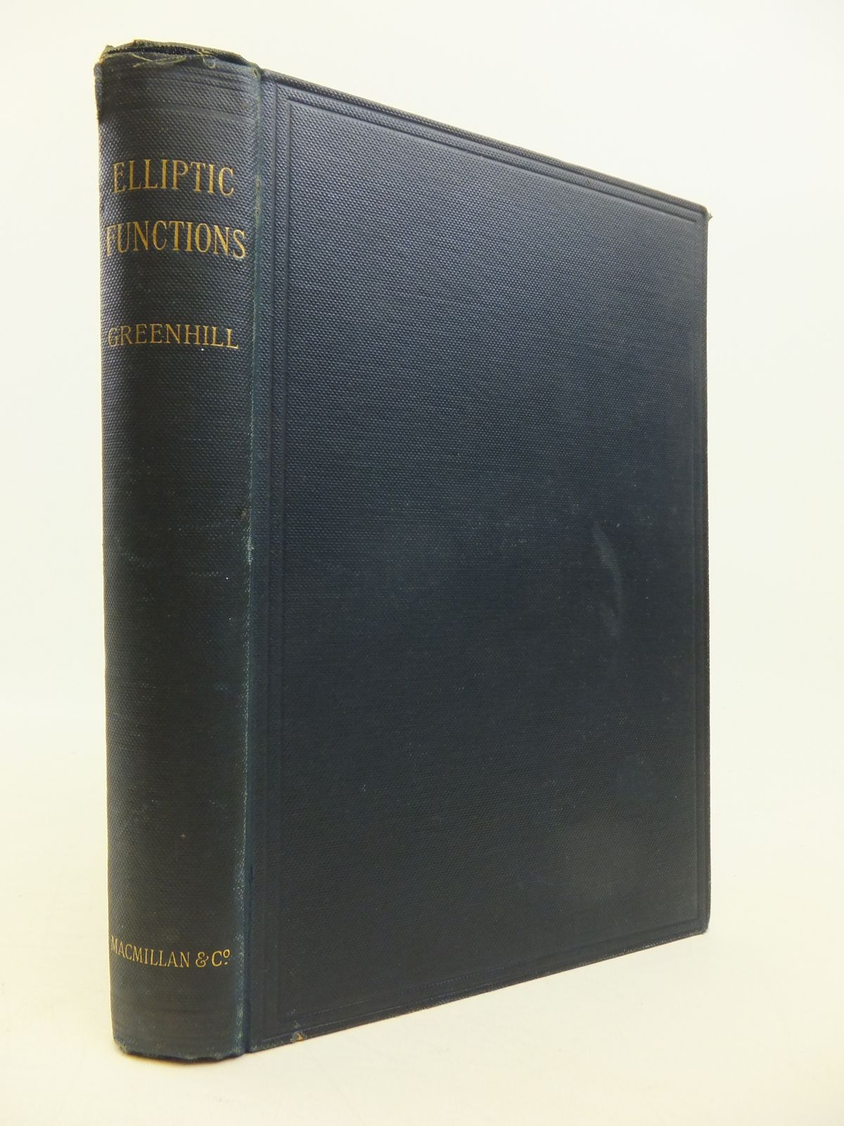 Photo of THE APPLICATIONS OF ELLIPTIC FUNCTIONS written by Greenhill, Alfred George published by Macmillan & Co. (STOCK CODE: 1811515)  for sale by Stella & Rose's Books