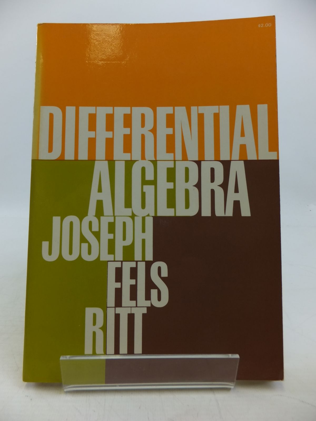 Photo of DIFFERENTIAL ALGEBRA written by Ritt, Joseph Fels published by Dover Publications Inc. (STOCK CODE: 1811606)  for sale by Stella & Rose's Books