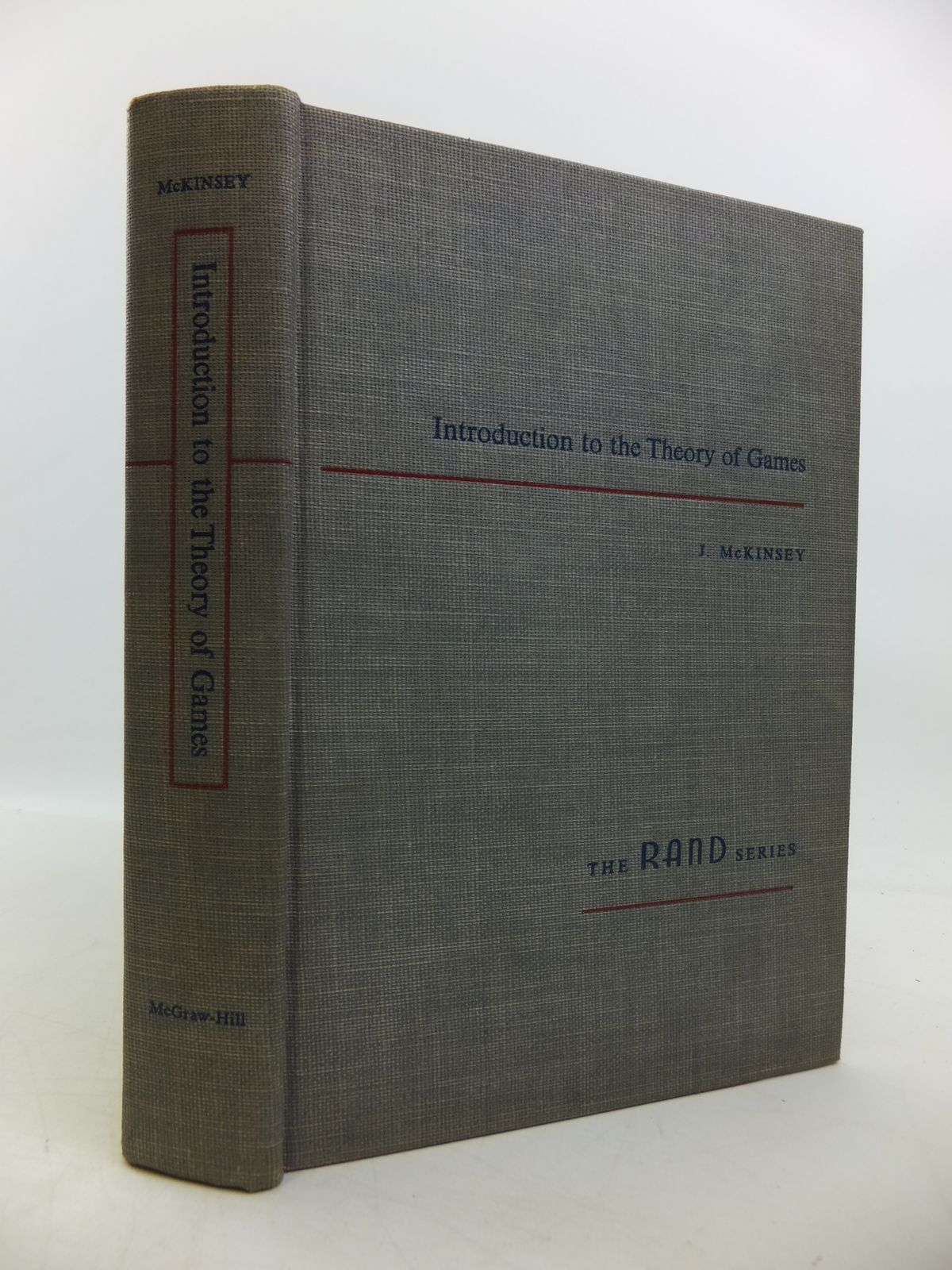Photo of INTRODUCTION TO THE THEORY OF GAMES written by McKinsey, J.C.C. published by McGraw-Hill Book Company (STOCK CODE: 1811614)  for sale by Stella & Rose's Books