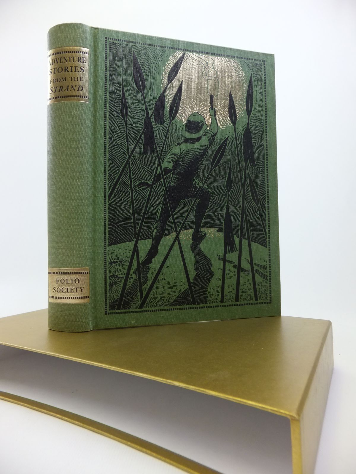 Photo of ADVENTURE STORIES FROM THE STRAND written by Beare, Geraldine illustrated by Eccles, David published by Folio Society (STOCK CODE: 1811952)  for sale by Stella & Rose's Books