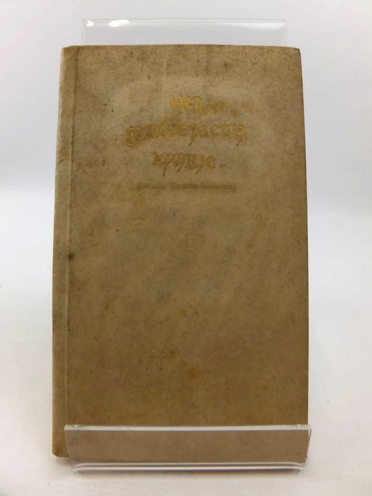 Photo of HEN FEDDEGYAETH KYMRIE (ANTIENT CYMRIC MEDICINE) written by Wellcome, Henry S. published by Burroughs Wellcome And Col. (STOCK CODE: 1812841)  for sale by Stella & Rose's Books