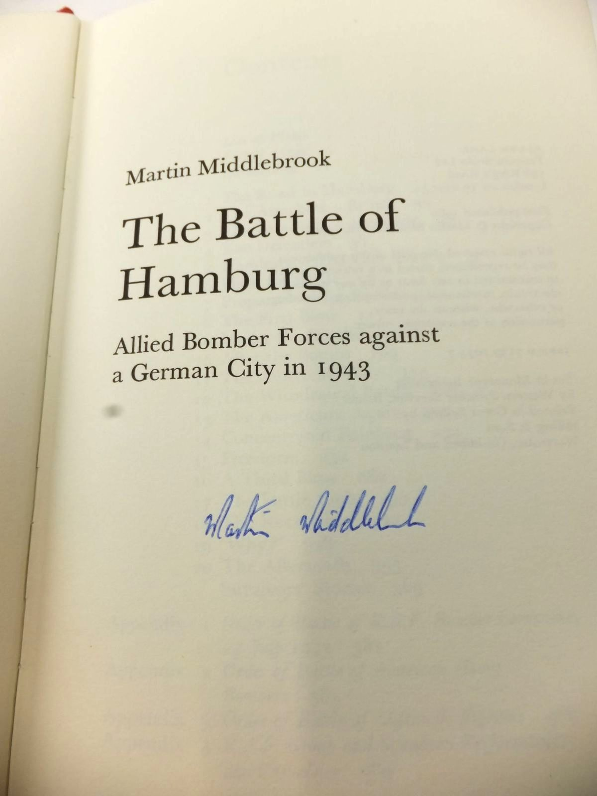 Photo of THE BATTLE OF HAMBURG written by Middlebrook, Martin published by Allen Lane (STOCK CODE: 1812996)  for sale by Stella & Rose's Books