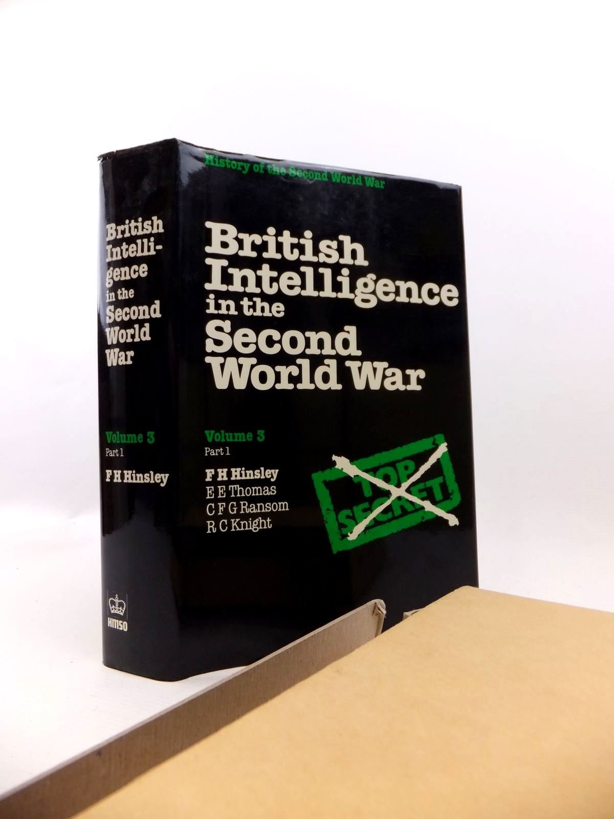 Photo of BRITISH INTELLIGENCE IN THE SECOND WORLD WAR VOLUME THREE PART I written by Hinsley, F.H.<br />et al, published by HMSO (STOCK CODE: 1813000)  for sale by Stella & Rose's Books