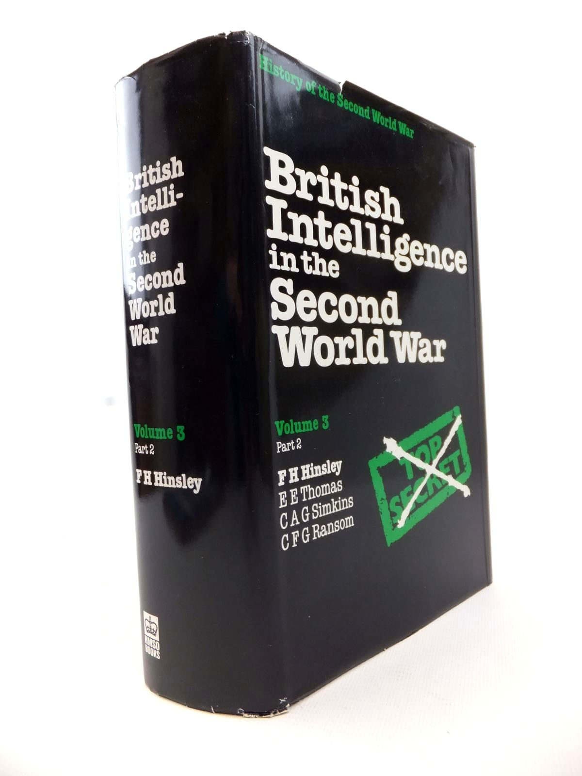 Photo of BRITISH INTELLIGENCE IN THE SECOND WORLD WAR VOLUME THREE PART II written by Hinsley, F.H.<br />et al,  published by HMSO (STOCK CODE: 1813022)  for sale by Stella & Rose's Books