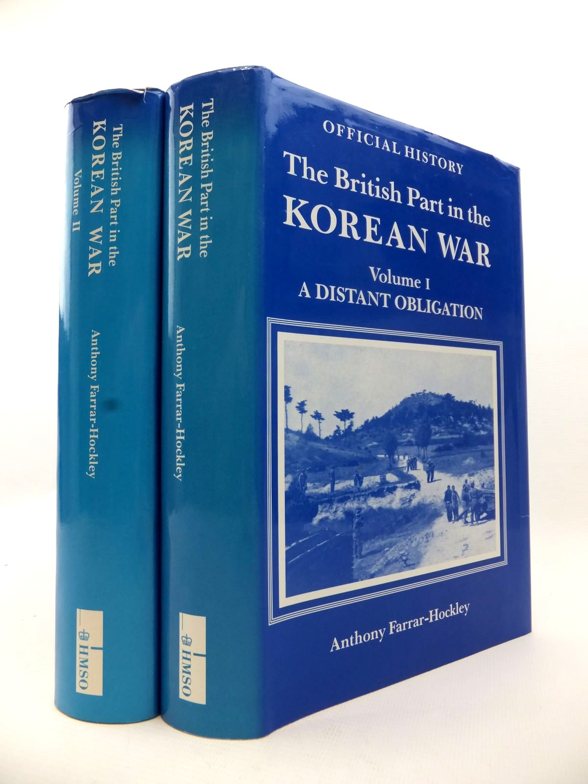 Photo of THE BRITISH PART IN THE KOREAN WAR (2 VOLUMES) written by Farrar-Hockley, Anthony published by HMSO (STOCK CODE: 1813041)  for sale by Stella & Rose's Books