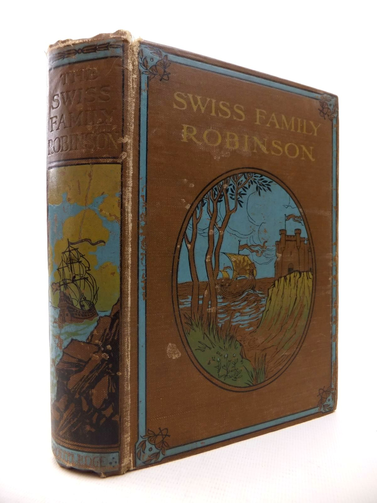 Photo of THE SWISS FAMILY ROBINSON written by Kingston, W.H.G.<br />Wyss, Johann Rudolph illustrated by Gilbert, John<br />Handforth, W.B. published by George Routledge and Sons Limited (STOCK CODE: 1813330)  for sale by Stella & Rose's Books