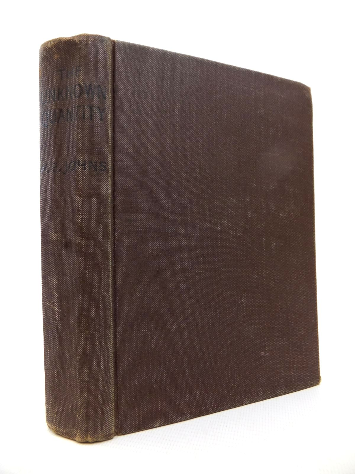 Photo of THE UNKNOWN QUANTITY written by Johns, W.E. published by John Hamilton Ltd. (STOCK CODE: 1813790)  for sale by Stella & Rose's Books