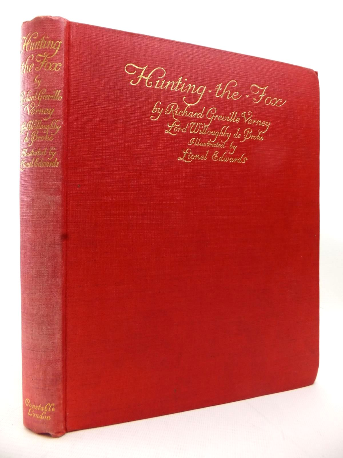 Photo of HUNTING THE FOX written by Verney, Richard Greville illustrated by Edwards, Lionel published by Constable & Co. Ltd. (STOCK CODE: 1813968)  for sale by Stella & Rose's Books