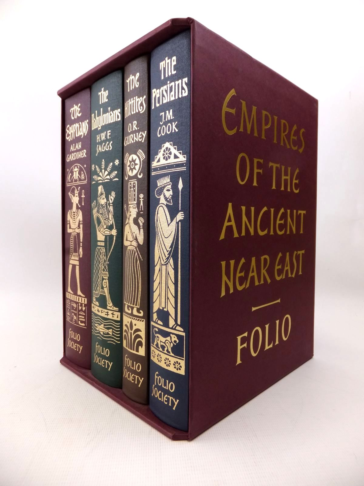 Photo of EMPIRES OF THE ANCIENT NEAR EAST (FOUR VOLUMES) written by Saggs, H.W.F.<br />Gardiner, Alan<br />Cook, J.M.<br />Gurney, O.R. published by Folio Society (STOCK CODE: 1814041)  for sale by Stella & Rose's Books
