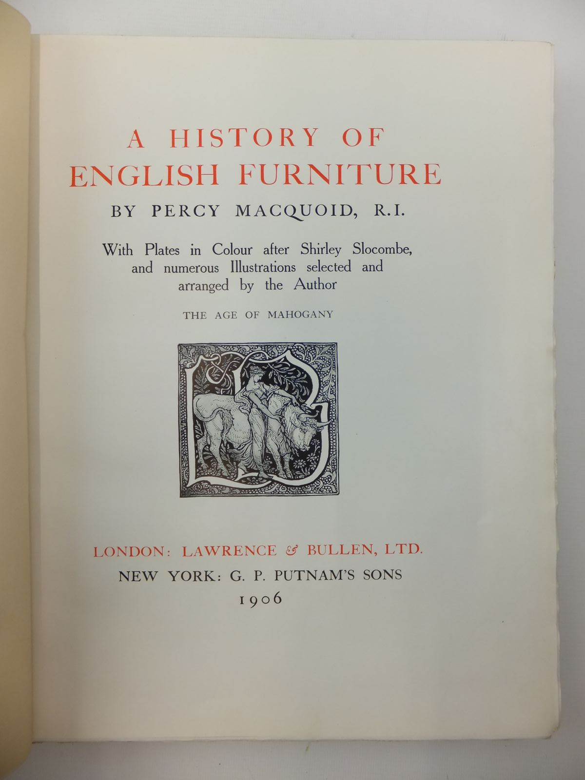 Photo of A HISTORY OF ENGLISH FURNITURE (4 VOLUMES) written by Macquoid, Percy illustrated by Slocombe, S. published by Lawrence And Bullen Ltd. (STOCK CODE: 1814367)  for sale by Stella & Rose's Books