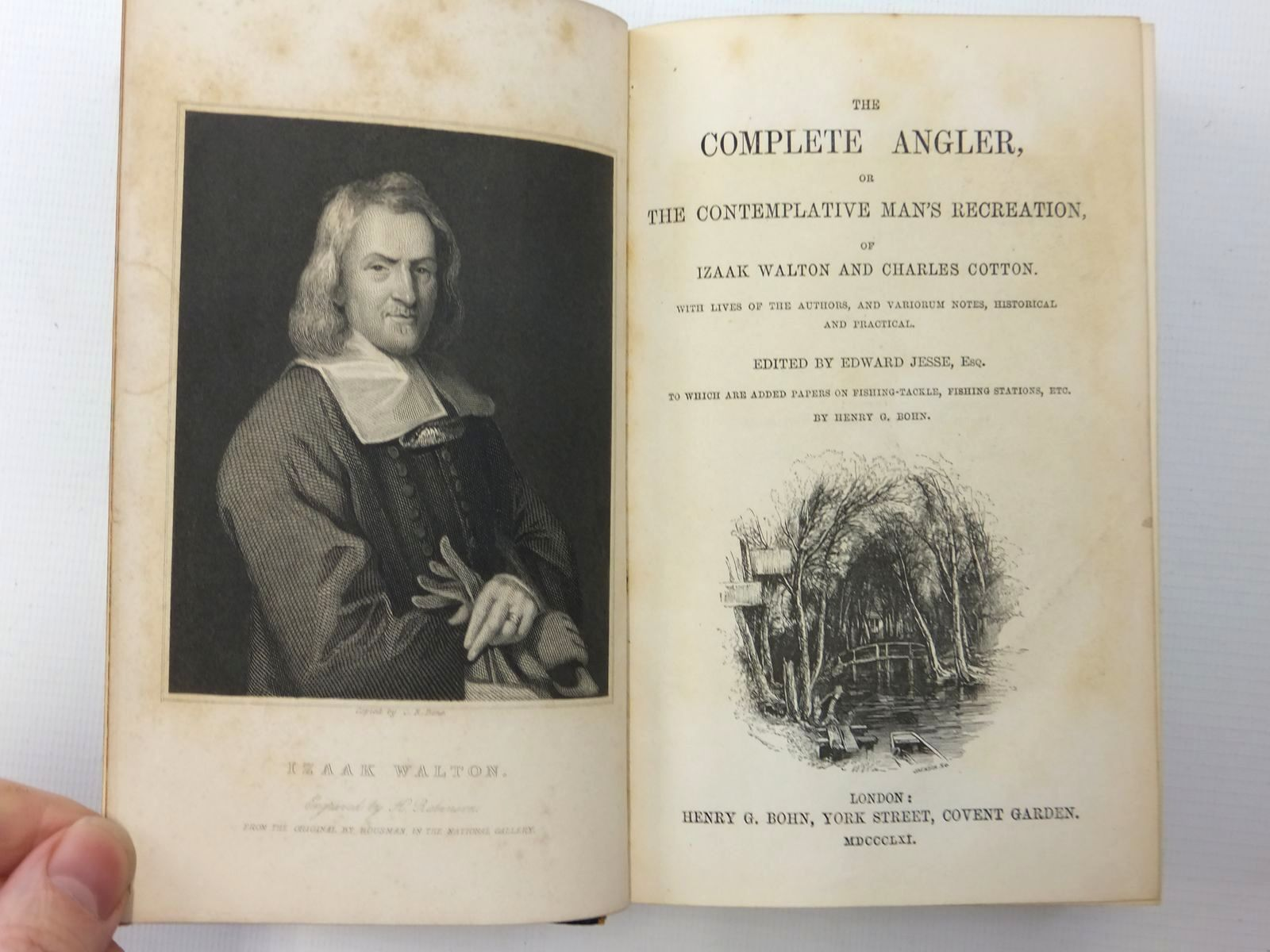 Photo of THE COMPLETE ANGLER, OR THE CONTEMPLATIVE MAN'S RECREATION written by Walton, Izaak<br />Cotton, Charles<br />Jesse, Edward published by Henry G. Bohn (STOCK CODE: 1814801)  for sale by Stella & Rose's Books