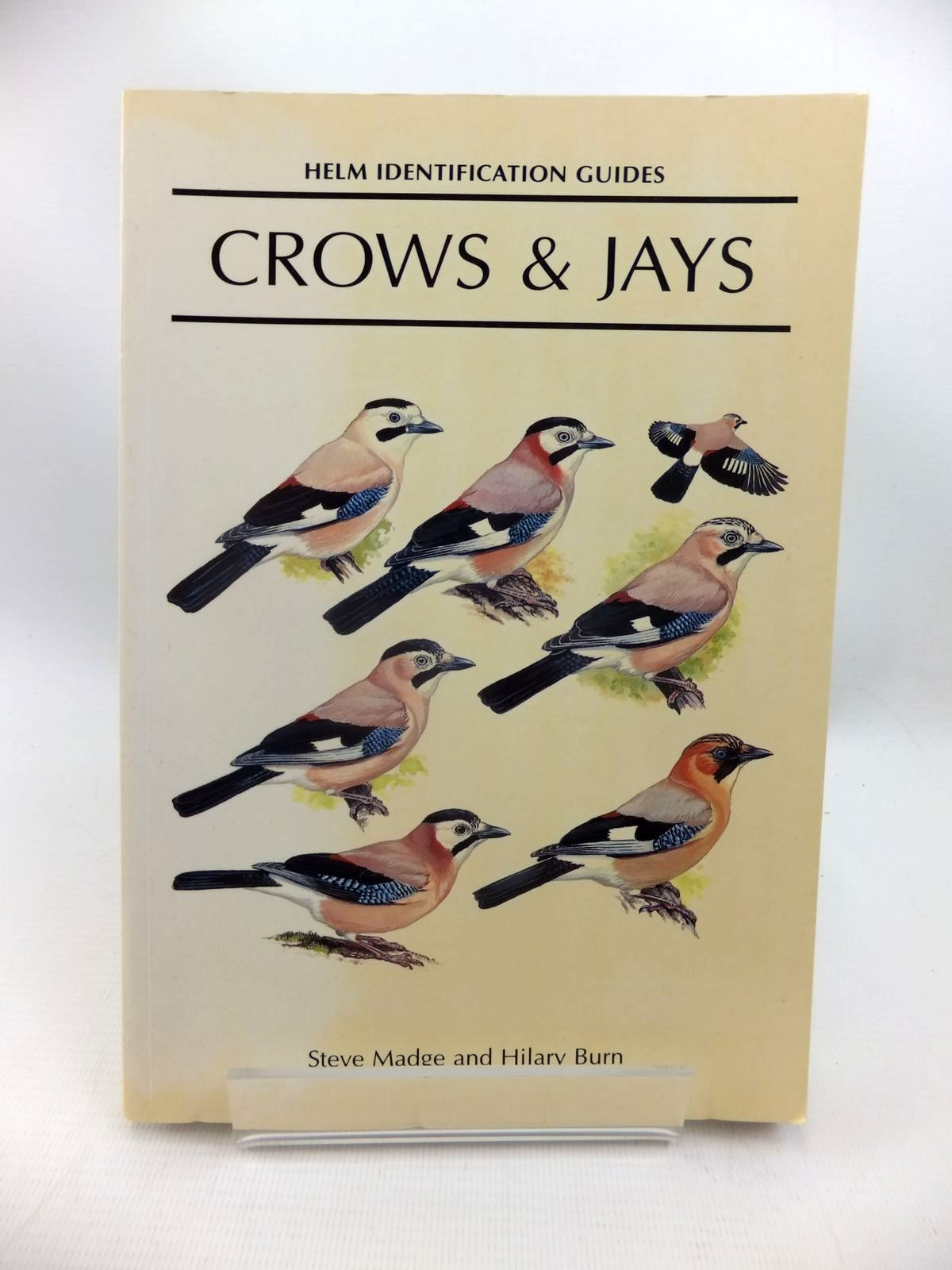 Photo of CROWS AND JAYS (HELM IDENTIFICATION GUIDES) written by Madge, Steve illustrated by Burn, Hilary published by Christopher Helm (STOCK CODE: 1815379)  for sale by Stella & Rose's Books