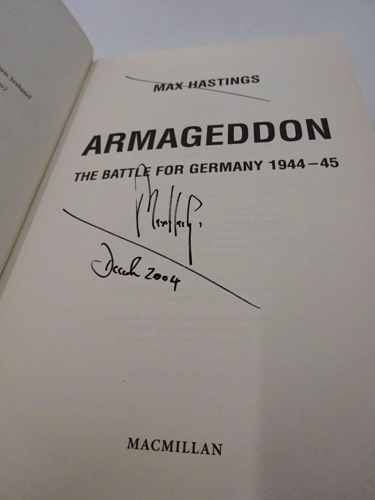 Photo of ARMAGEDDON: THE BATTLE FOR GERMANY 1944-45 written by Hastings, Max published by MacMillan (STOCK CODE: 1815550)  for sale by Stella & Rose's Books