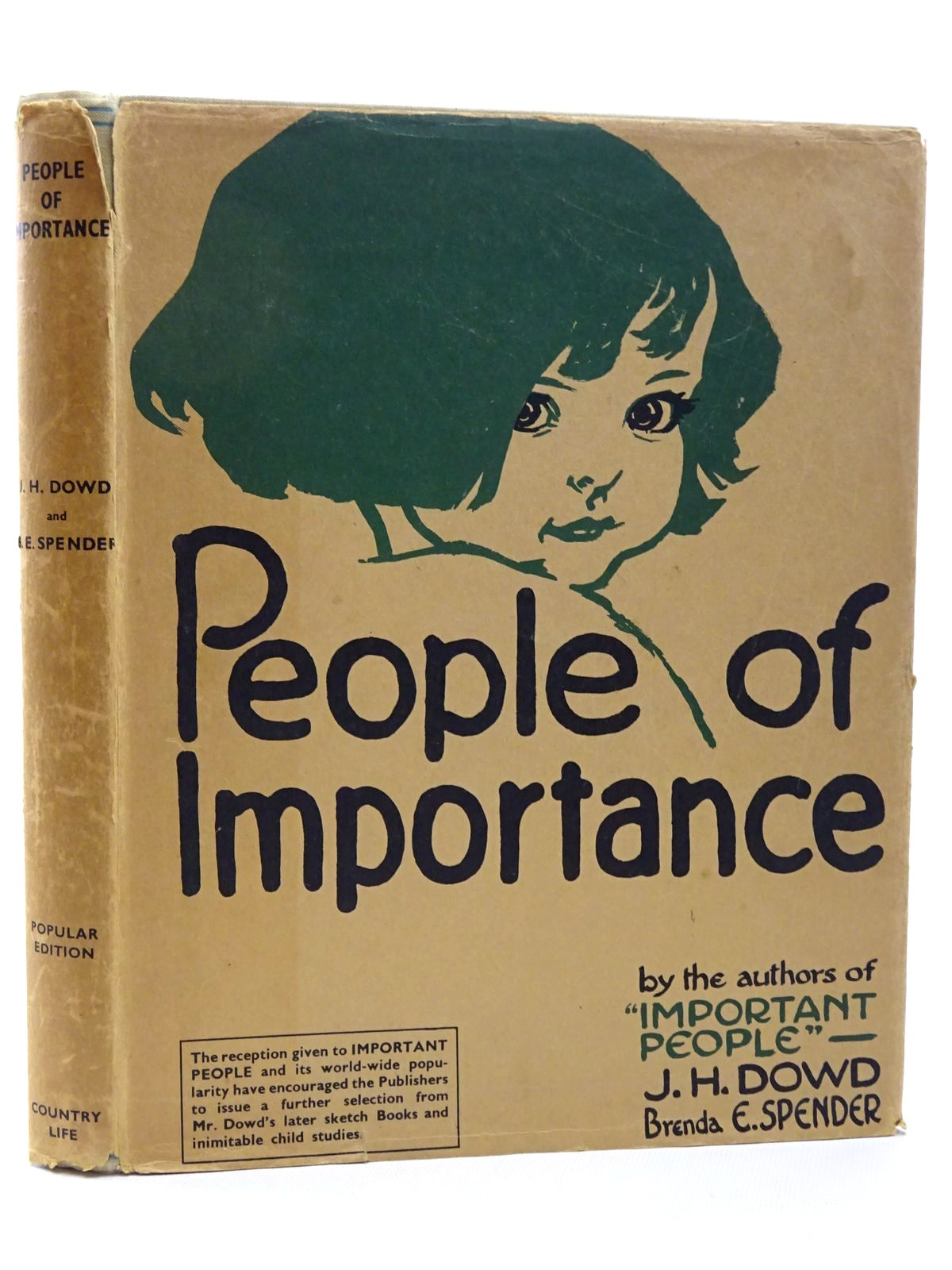 Photo of PEOPLE OF IMPORTANCE written by Spender, Brenda E. illustrated by Dowd, J.H. published by Country Life Ltd. (STOCK CODE: 1815632)  for sale by Stella & Rose's Books