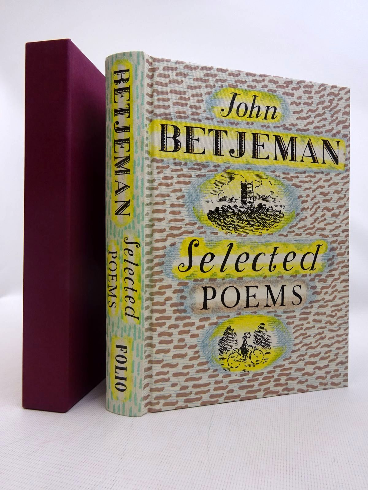 Photo of JOHN BETJEMAN SELECTED POEMS written by Betjeman, John<br />Powers, Alan illustrated by Bailey, Peter published by Folio Society (STOCK CODE: 1816625)  for sale by Stella & Rose's Books