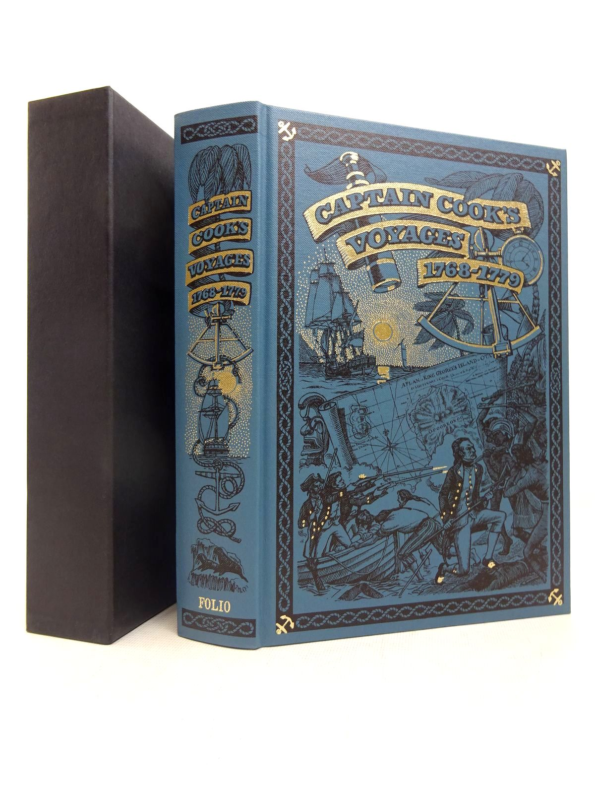 Photo of CAPTAIN COOK'S VOYAGES 1768-1779 written by Cook, Captain<br />Williams, Glyndwr published by Folio Society (STOCK CODE: 1816687)  for sale by Stella & Rose's Books