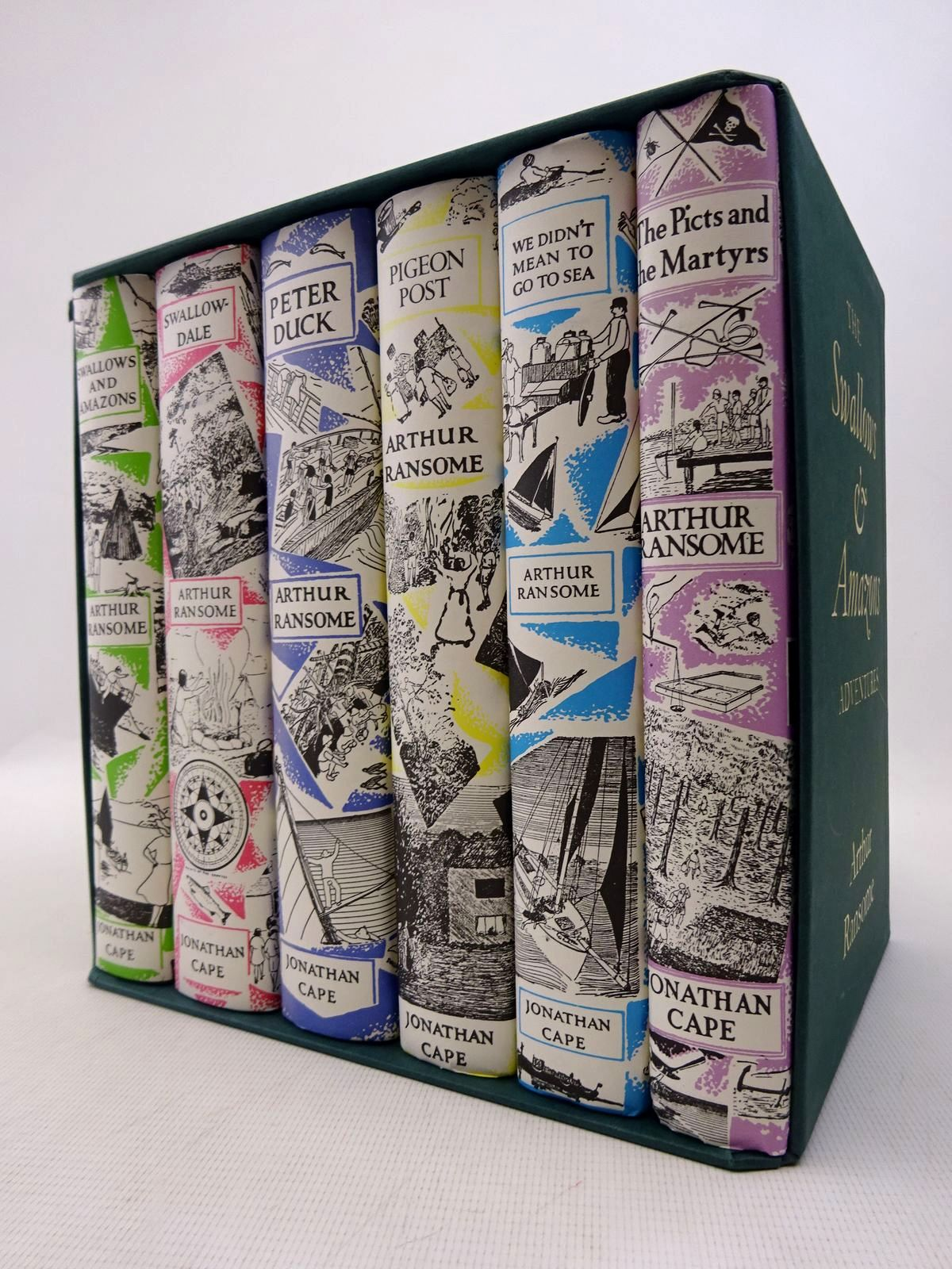 Photo of THE SWALLOWS & AMAZONS ADVENTURES (6 VOLUME SET) written by Ransome, Arthur illustrated by Ransome, Arthur<br />Blackett, Nancy published by Jonathan Cape (STOCK CODE: 1816941)  for sale by Stella & Rose's Books