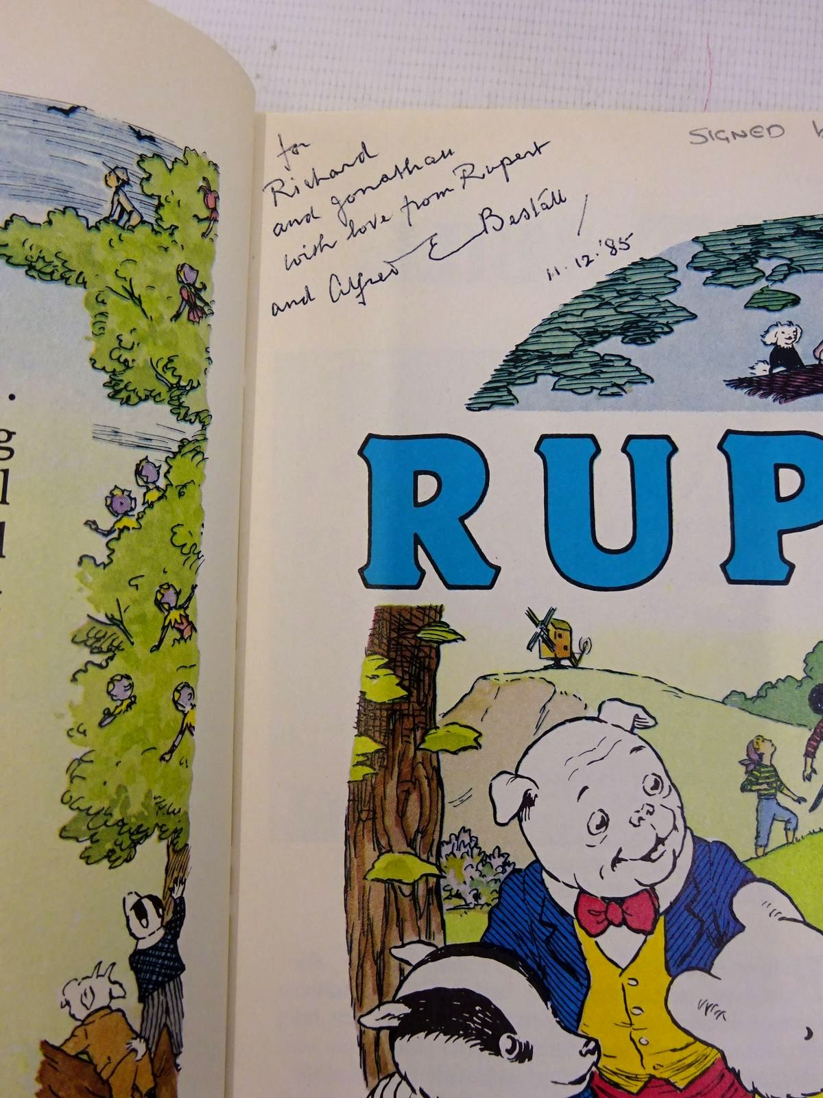 Photo of RUPERT ANNUAL 1985 written by Bestall, Alfred<br />Henderson, James illustrated by Bestall, Alfred<br />Harrold, John published by Express Newspapers Ltd. (STOCK CODE: 1817123)  for sale by Stella & Rose's Books