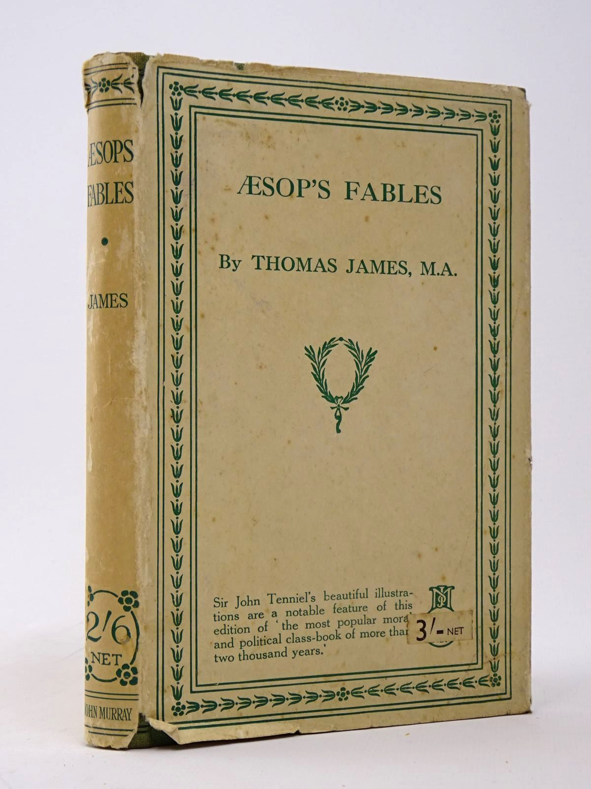 Photo of AESOP'S FABLES written by Aesop, <br />James, Thomas illustrated by Tenniel, John published by John Murray (STOCK CODE: 1817518)  for sale by Stella & Rose's Books