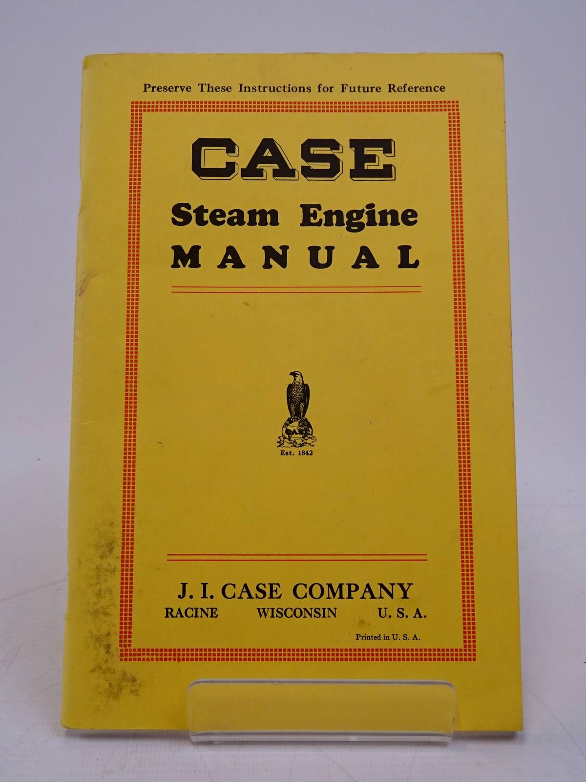 Photo of CASE STEAM ENGINE MANUAL