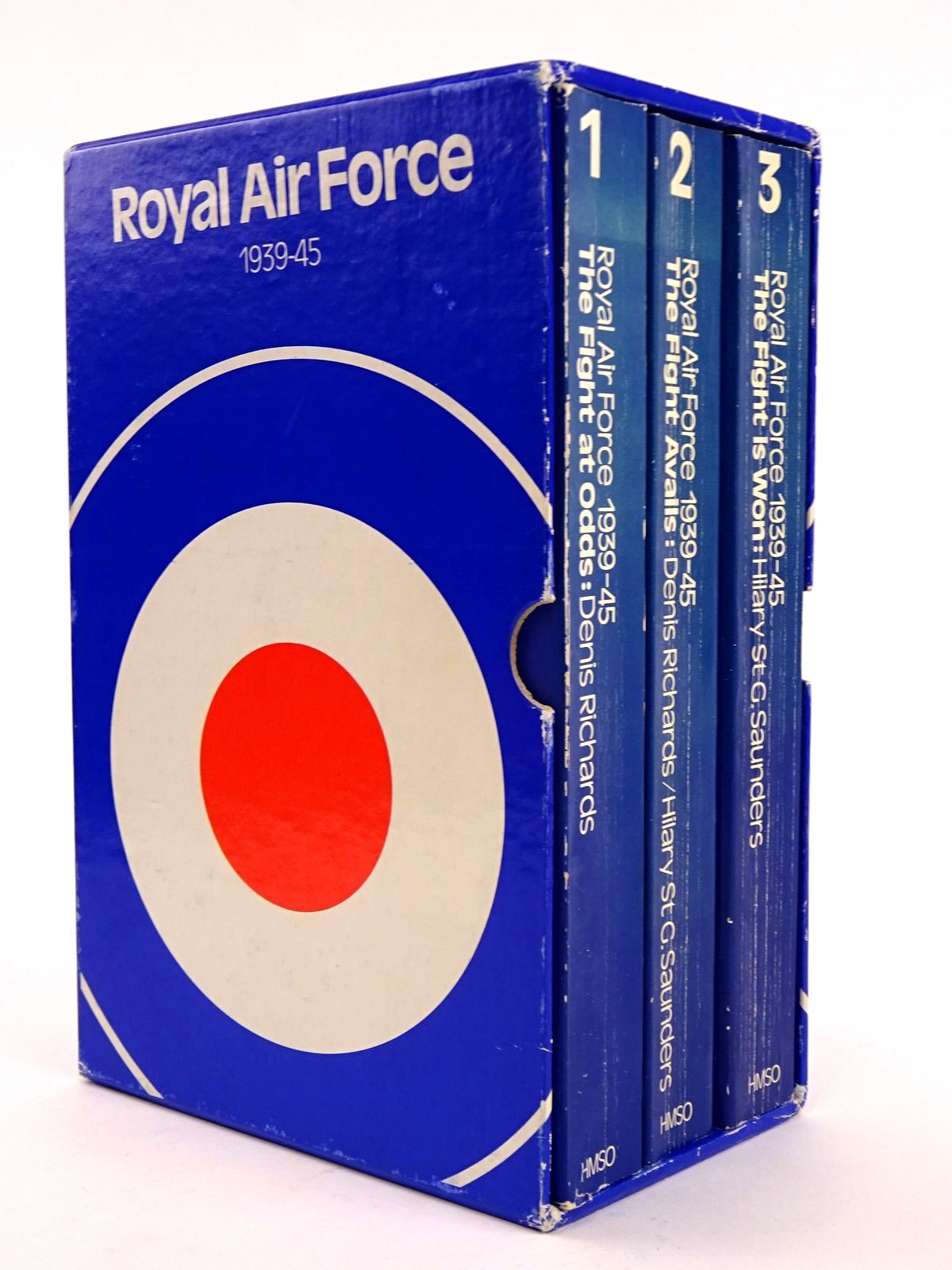 Photo of ROYAL AIR FORCE 1939-1945 (3 VOLUMES) written by Richards, Denis<br />Saunders, Hilary St. George published by Her Majesty's Stationery Office (STOCK CODE: 1818170)  for sale by Stella & Rose's Books