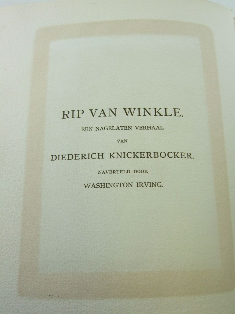 Photo of RIP VAN WINKLE written by Irving, Washington illustrated by Rackham, Arthur published by Van Holkema & Warendorf (STOCK CODE: 2106668)  for sale by Stella & Rose's Books