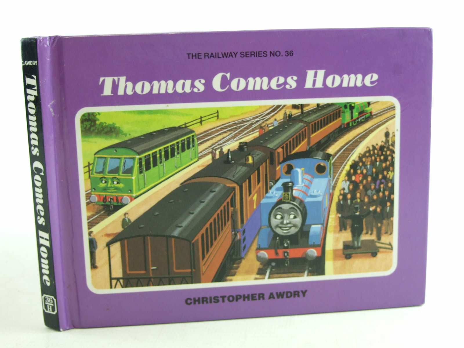 Photo of THOMAS COMES HOME written by Awdry, Christopher illustrated by Spong, Clive published by Heinemann (STOCK CODE: 2108039)  for sale by Stella & Rose's Books