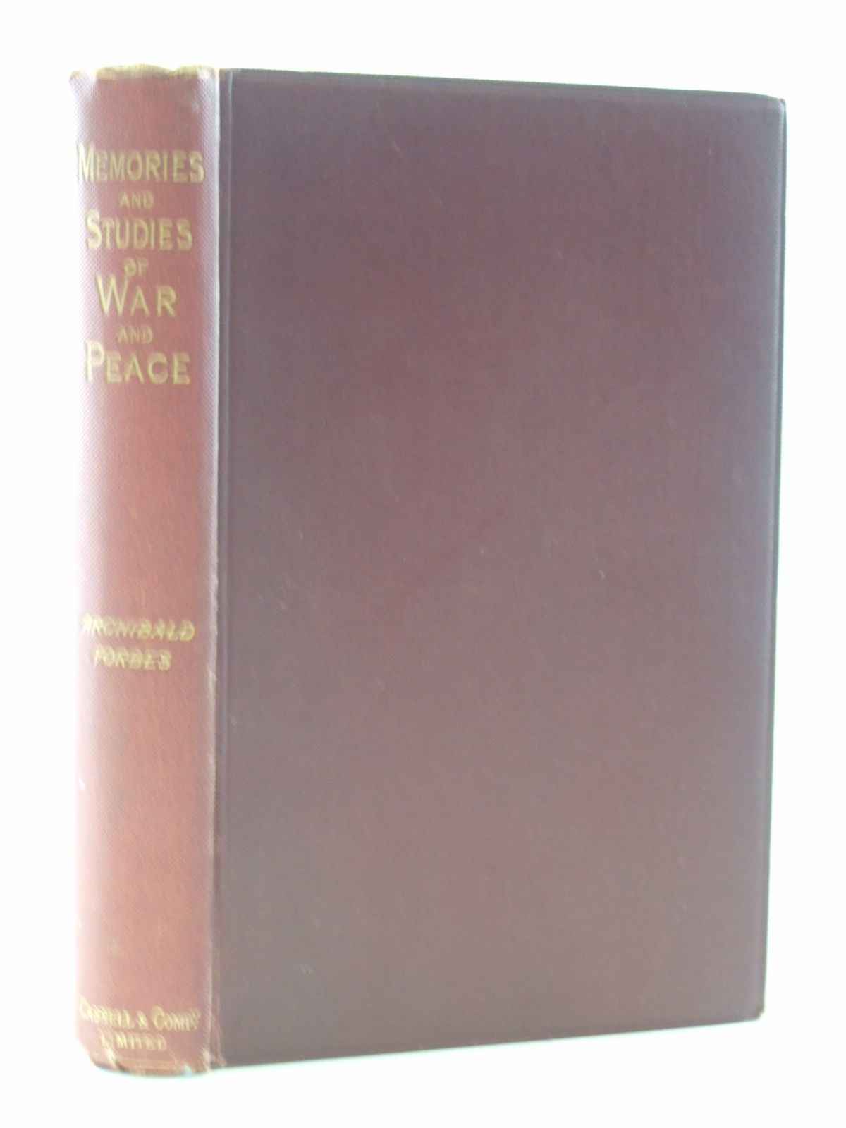 Photo of MEMORIES AND STUDIES OF WAR AND PEACE written by Forbes, Archibald published by Cassell & Company Limited (STOCK CODE: 2108477)  for sale by Stella & Rose's Books