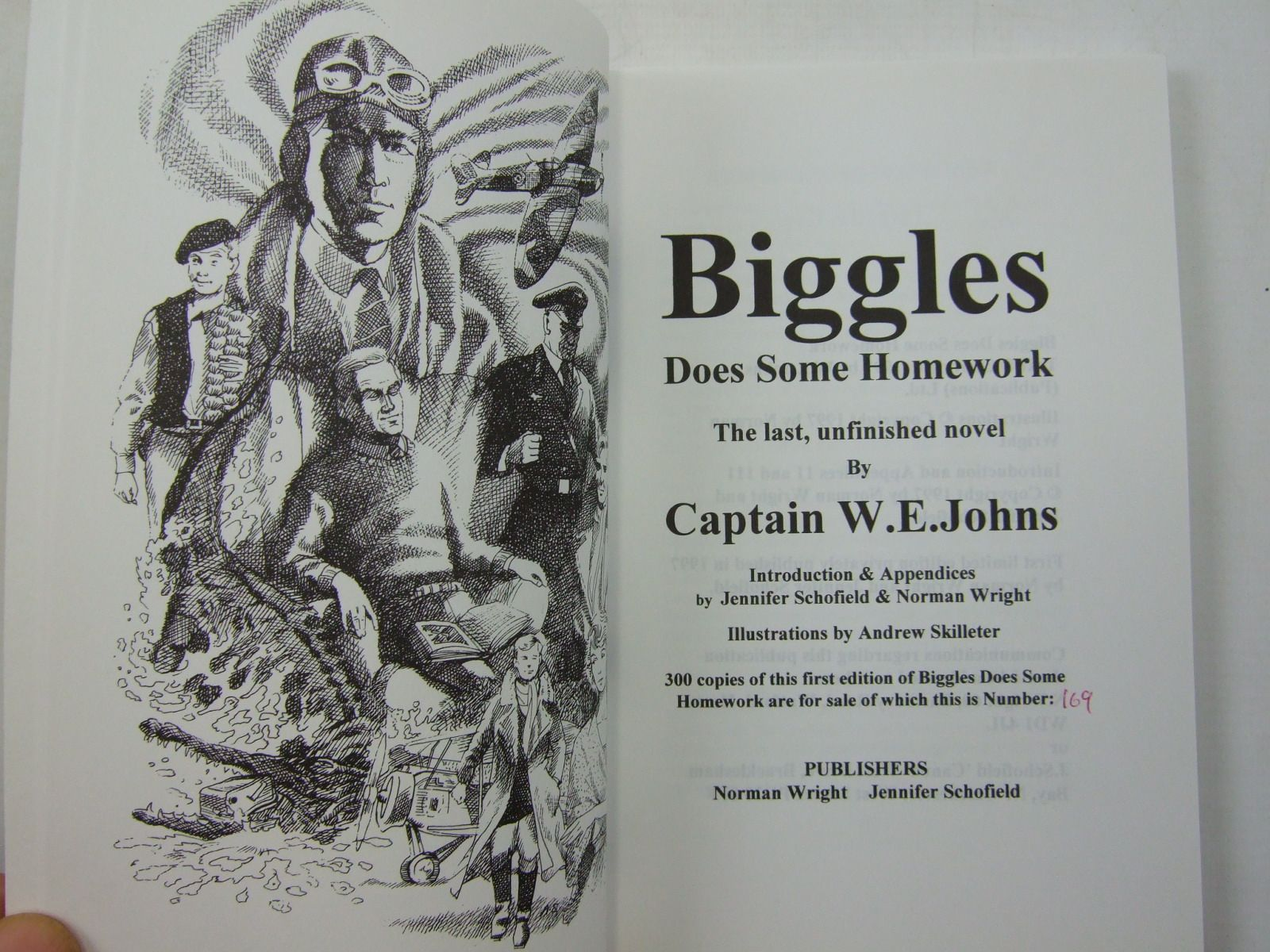 biggles does some homework sale