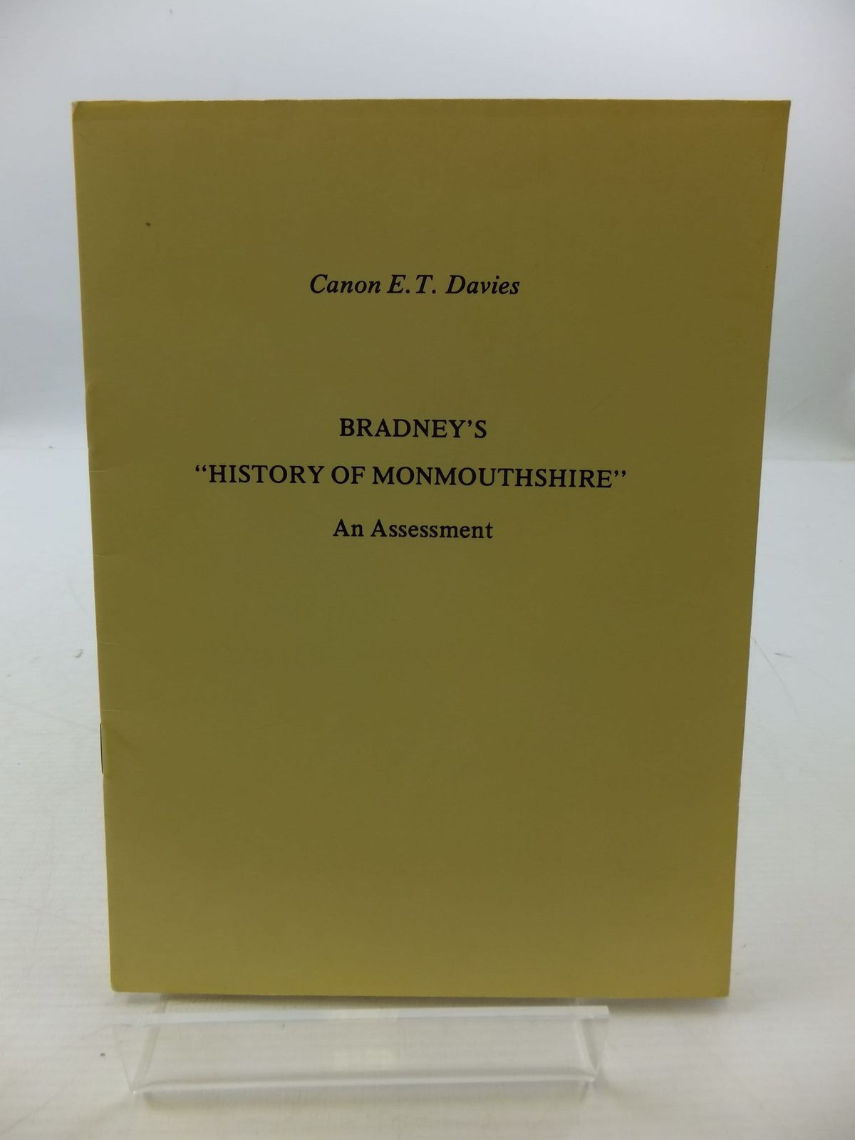 Photo of BRADNEY'S HISTORY OF MONMOUTHSHIRE AN ASSESSMENT written by Davies, E. Tegla published by Regional Publications (STOCK CODE: 2110371)  for sale by Stella & Rose's Books