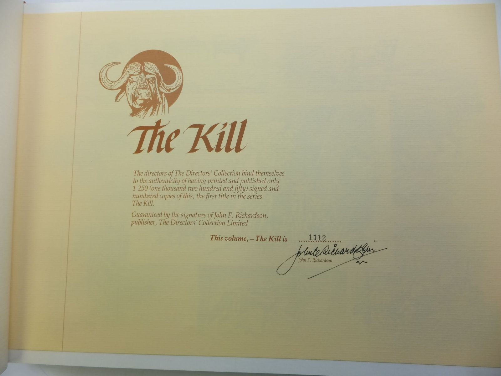 Photo of THE DIRECTORS' COLLECTION - THE KILL written by Penrith, James M.<br />Van Velden, Nelia<br />Davidson, Anthony D.<br />Shepherd, David illustrated by Vorster, Gordon<br />Vaughan, Patricia<br />Smith, Richard<br />Lewis, Dylan<br />et al.,  published by The Directors' Collection Limited (STOCK CODE: 2110407)  for sale by Stella & Rose's Books