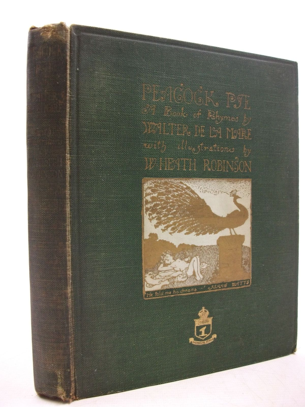 Photo of PEACOCK PIE - A BOOK OF RHYMES written by De La Mare, Walter illustrated by Robinson, W. Heath published by Constable and Company Ltd. (STOCK CODE: 2111414)  for sale by Stella & Rose's Books