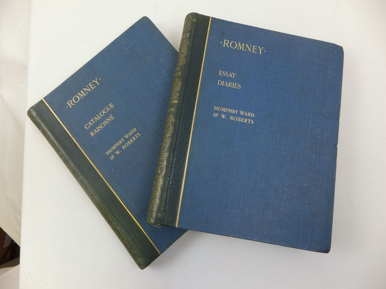 Photo of ROMNEY A BIOGRAPHICAL AND CRITICAL ESSAY  WITH A CATALOGUE RAISONNE OF HIS WORKS (2 VOLUMES) written by Ward, Humphrey<br />Roberts, W. published by Thos. Agnew & Sons (STOCK CODE: 2111890)  for sale by Stella & Rose's Books
