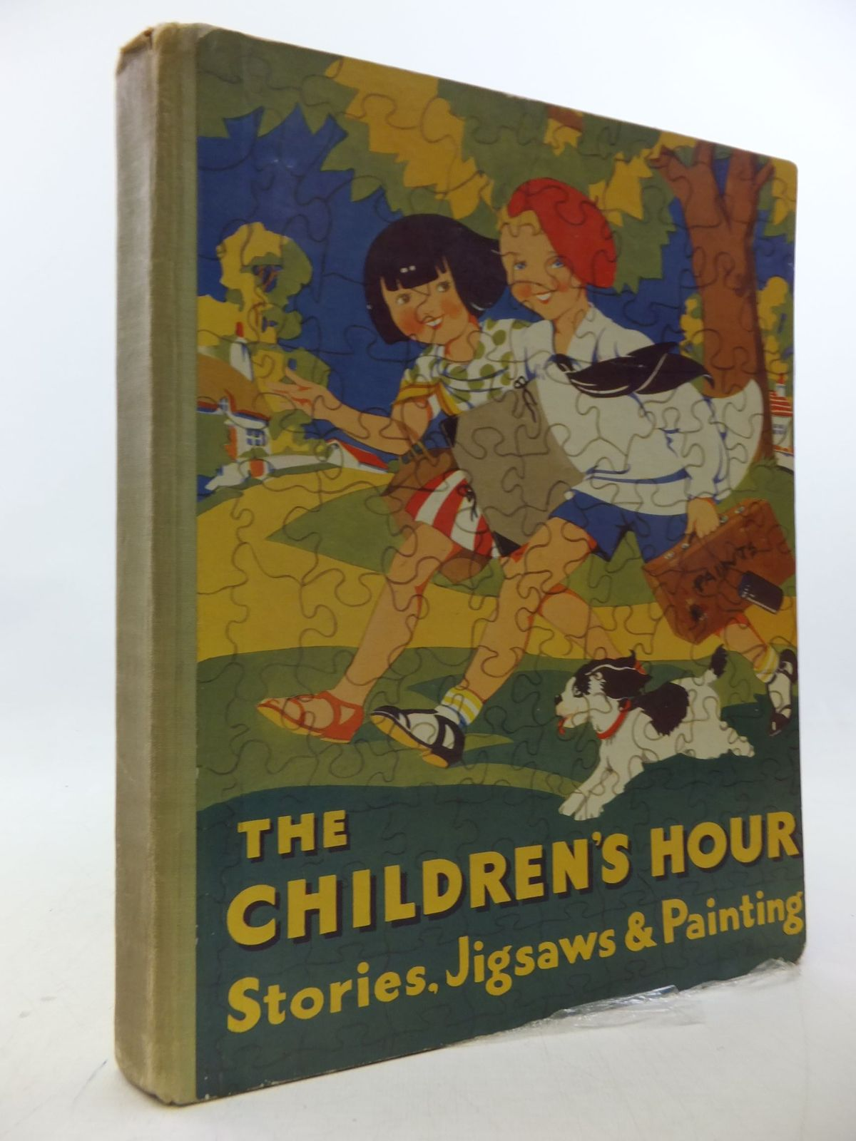 Photo of THE CHILDREN'S HOUR STORIES, JIGSAWS AND PAINTING written by Perrault, Charles<br />Milne, A.A.<br />Crompton, Richmal<br />et al, illustrated by Cloke, Rene<br />et al., published by Daily Express (STOCK CODE: 2112942)  for sale by Stella & Rose's Books