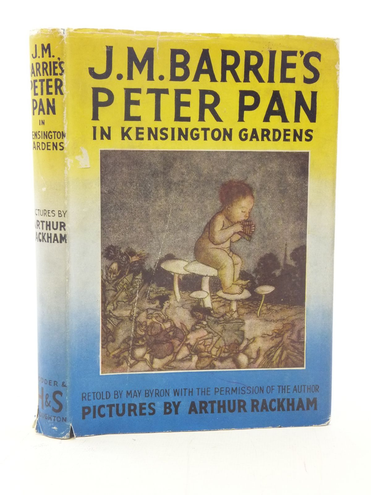 Photo of PETER PAN IN KENSINGTON GARDENS RETOLD FOR LITTLE PEOPLE written by Barrie, J.M.<br />Byron, May illustrated by Rackham, Arthur published by Hodder & Stoughton (STOCK CODE: 2114814)  for sale by Stella & Rose's Books