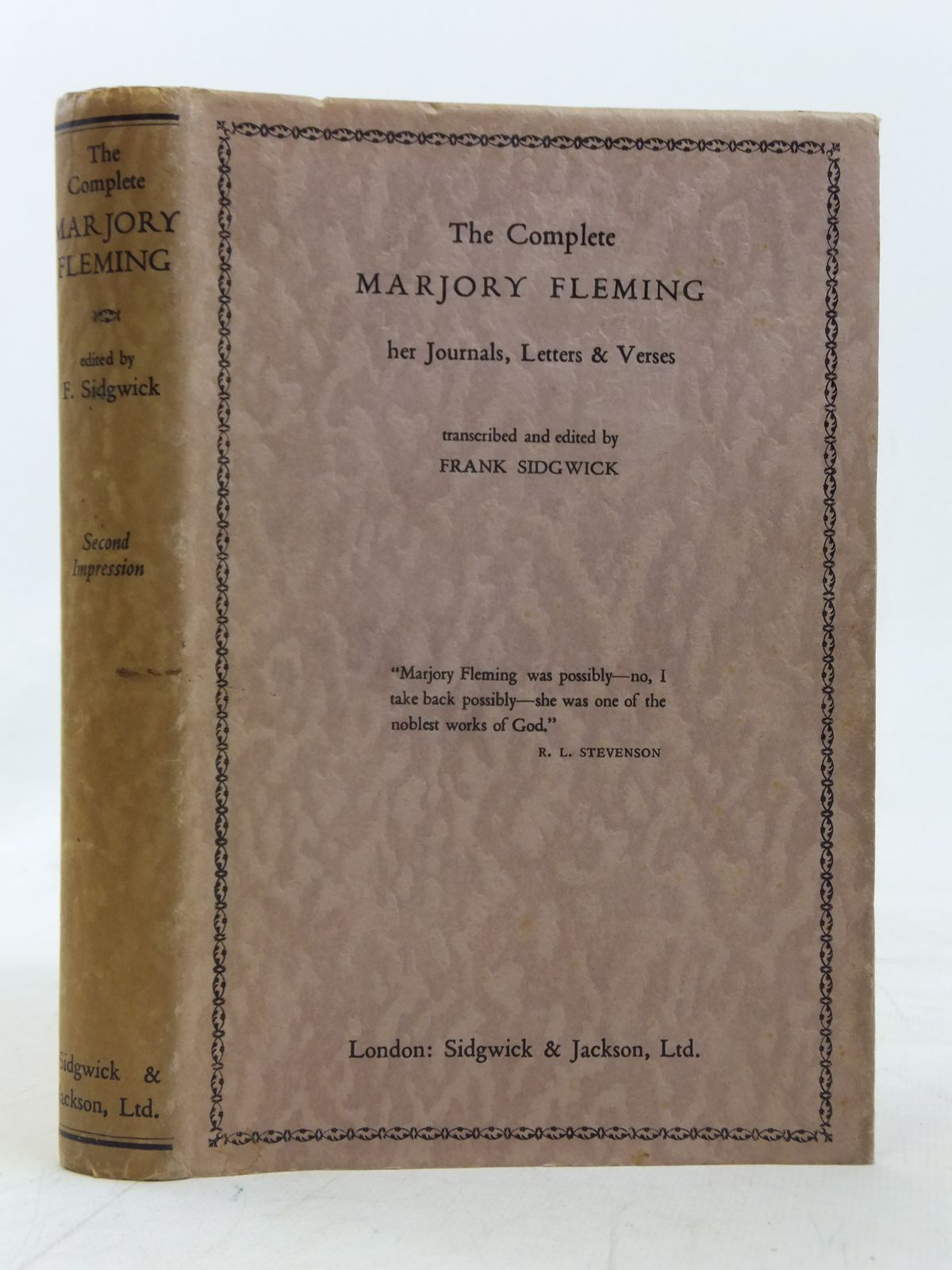 Photo of THE COMPLETE MARJORY FLEMING written by Fleming, Marjory<br />Sidgwick, Frank published by Sidgwick & Jackson (STOCK CODE: 2115936)  for sale by Stella & Rose's Books