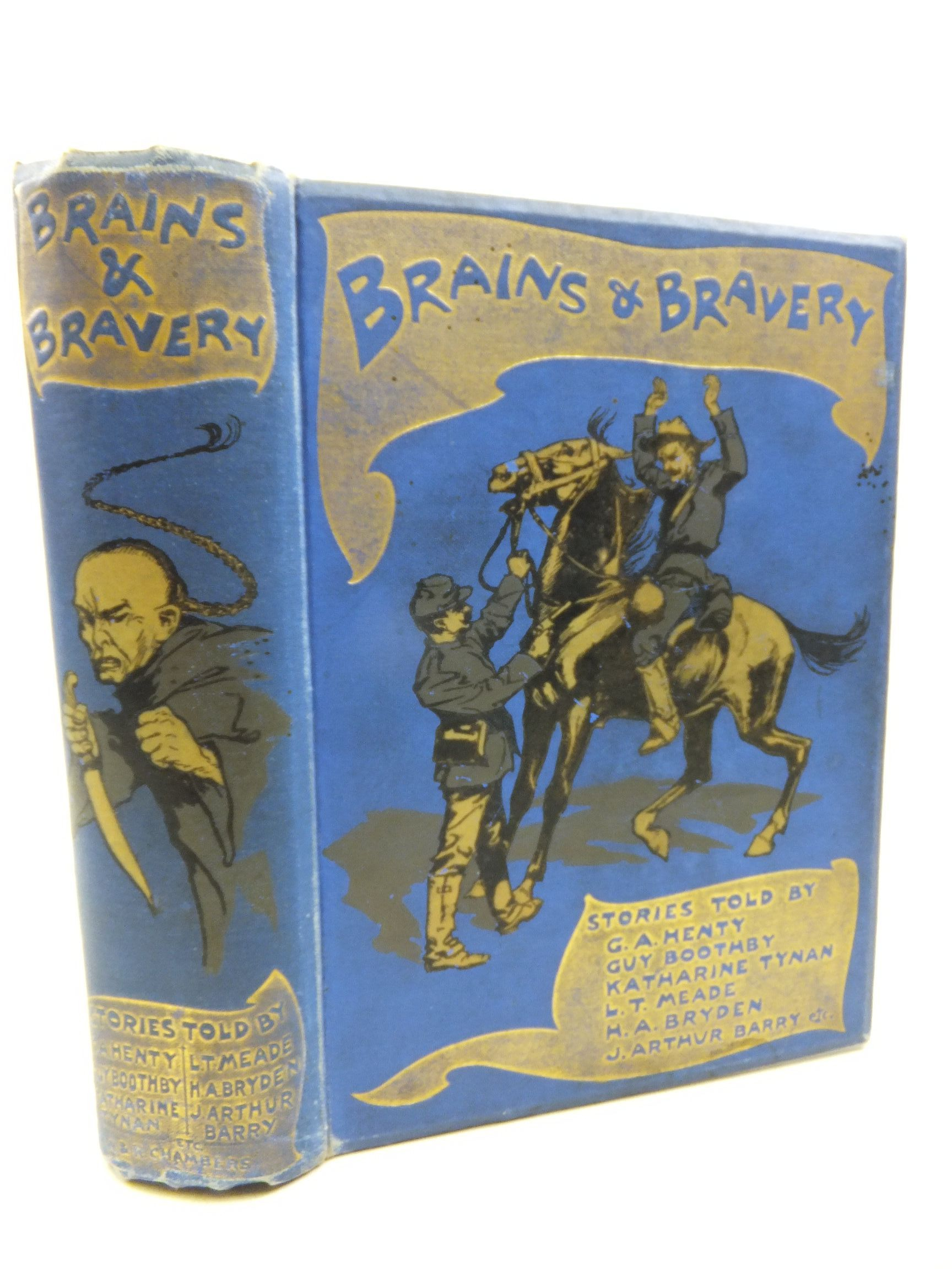 Photo of BRAINS & BRAVERY written by Henty, G.A.<br />Boothby, Guy<br />et al,  illustrated by Rackham, Arthur published by W. & R. Chambers Limited (STOCK CODE: 2116025)  for sale by Stella & Rose's Books