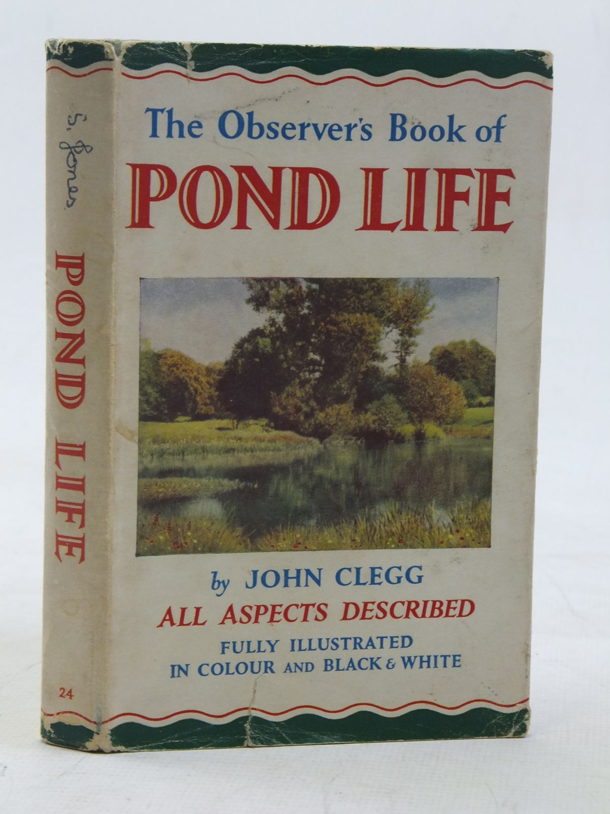 Photo of THE OBSERVER'S BOOK OF POND LIFE written by Clegg, John illustrated by Mansell, Ernest C. published by Frederick Warne & Co Ltd. (STOCK CODE: 2116507)  for sale by Stella & Rose's Books