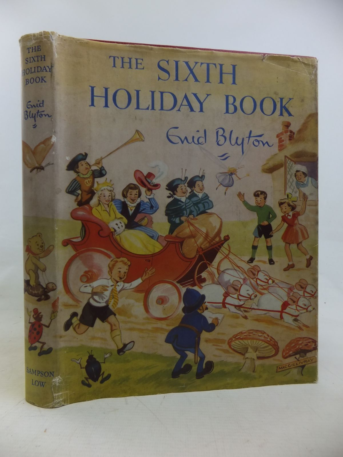 Photo of THE SIXTH HOLIDAY BOOK written by Blyton, Enid illustrated by Steed, Cicely<br />MacGillivray, Robert<br />McGavin, Hilda<br />Sheppard, Raymond<br />et al.,  published by Sampson Low, Marston & Co. Ltd. (STOCK CODE: 2116788)  for sale by Stella & Rose's Books