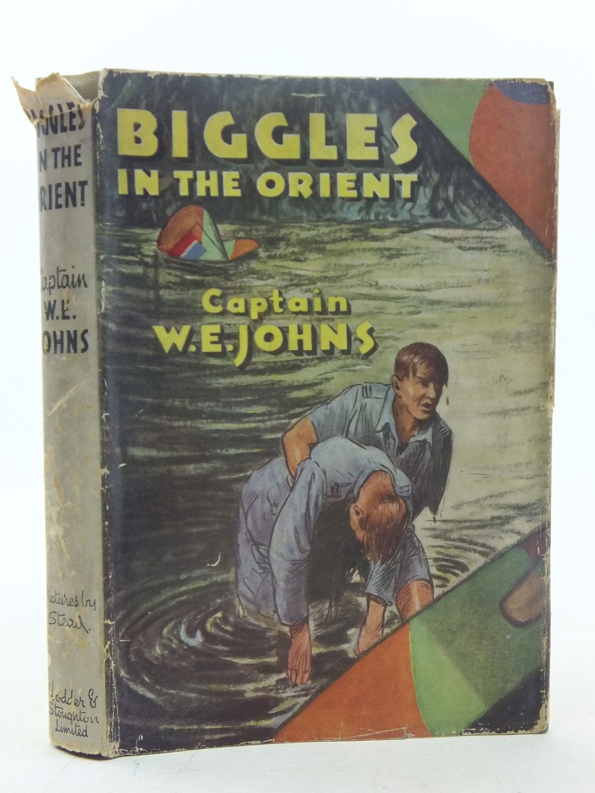 Photo of BIGGLES IN THE ORIENT written by Johns, W.E. illustrated by Stead,  published by Hodder & Stoughton (STOCK CODE: 2117381)  for sale by Stella & Rose's Books