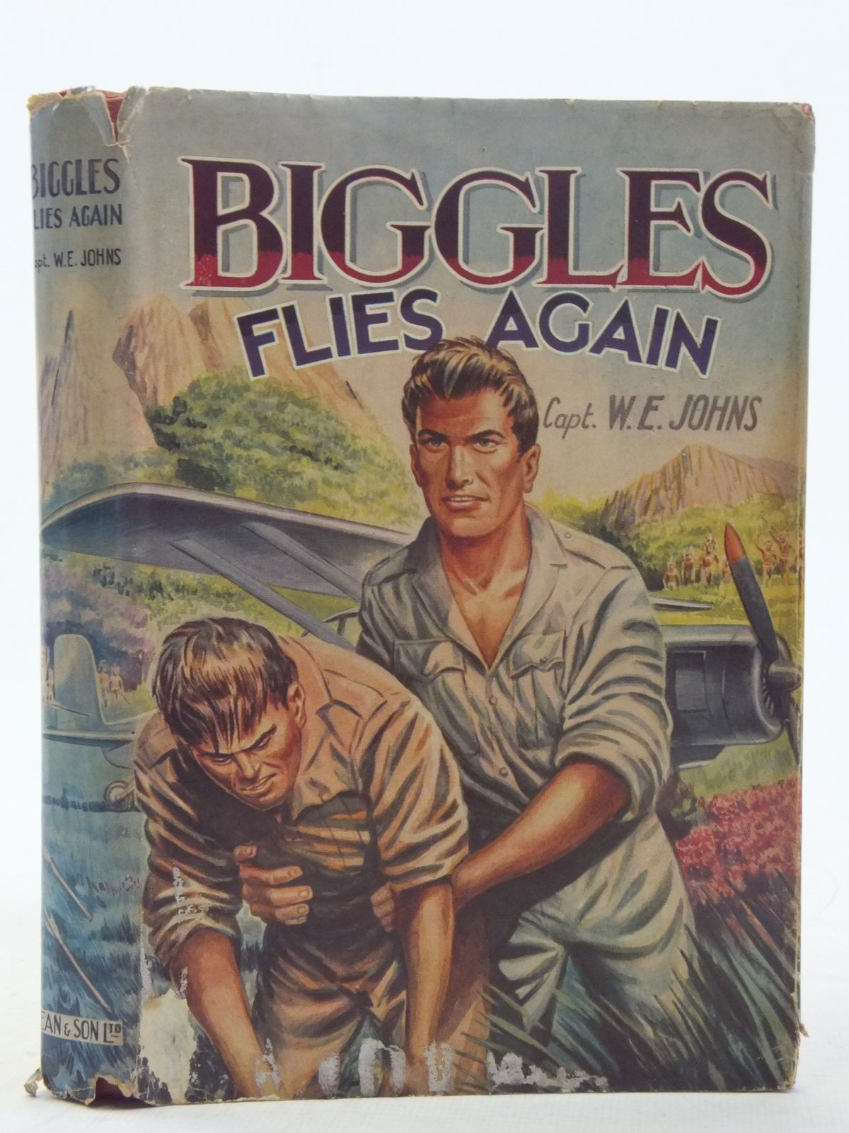 Photo of BIGGLES FLIES AGAIN written by Johns, W.E. published by Dean & Son Ltd. (STOCK CODE: 2117431)  for sale by Stella & Rose's Books