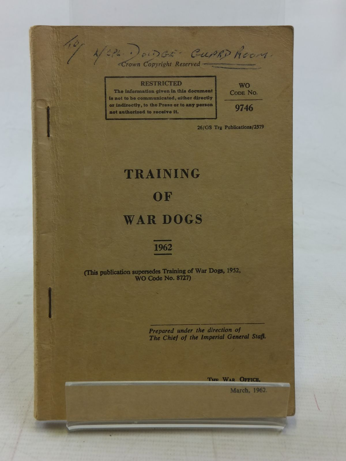 Photo of TRAINING OF WAR DOGS